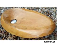 Umywalki z drewna
